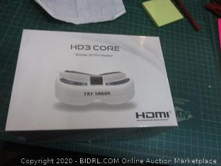 HD3 Core Modular 3D FPV Headset  factory sealed