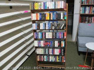 Rack full of VHS Tapes. Rack and Tapes