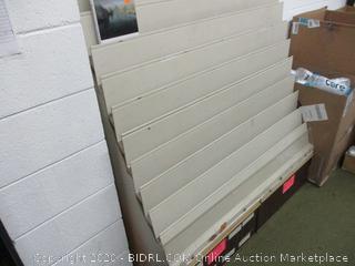 DVD or Book Display Shelf With Storage Below