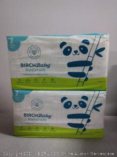 Birch baby Naturals the World's friendliest diaper size 2