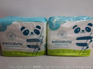 Birch baby Naturals the World's friendliest diapers size 5