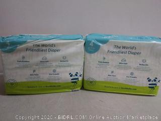 Birch baby Naturals the World's friendliest diaper size 4
