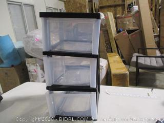 Iris- 3 Drawer Storage Cart w/ Wheels (bent, please see picture)