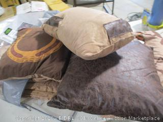 Chezmoi Collection- Sedona- Southwestern Wild Horses Microsuede Comforter Set