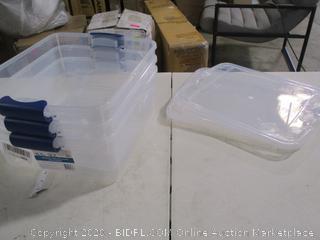 Homz- 15.5 QT Latching Box- Set of 3