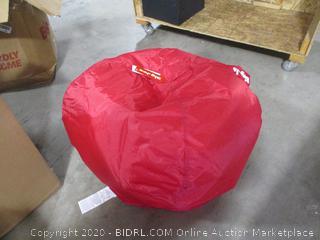 """Big Joe- 98"""" Bean Bag- Flaming Red"""