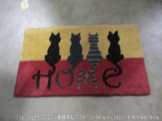Bits and Pieces- Cat Tails Rubber Doormat