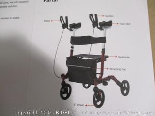 BEYOUR WALKER- Upright Rollator Walker Stand Up Walking Aid