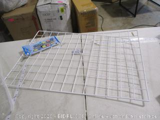 Wire Wall Grid Panel Bulletin Board(With 10 Clips)