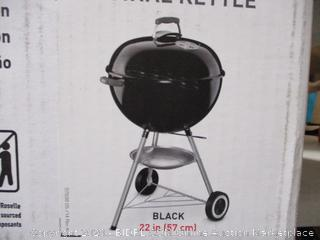Weber - 22in Original Kettle Charcoal Barbecue Grill (Black)