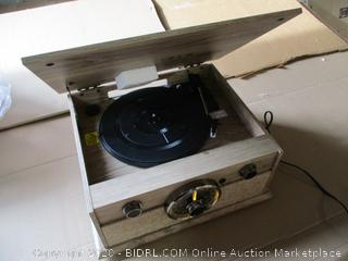 Victrola Cambridge 4-in-1 Turntable Music Center w/Bluetooth (Powers On)