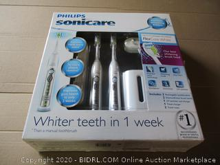 Philips Sonicare FlexCare Whitening Edition Rechargeable Toothbrush Premium 2-Pack Bundle
