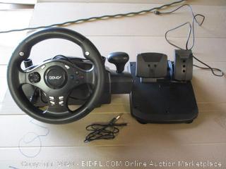 DOYO 270 Degree Rotation Pro Sport Racing Wheel wtih Pedals