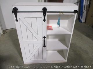 Gates One Door Cabinet Rustic White