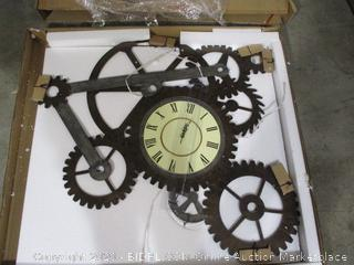 Southern Enterprises - Gear Wall Art with Clock