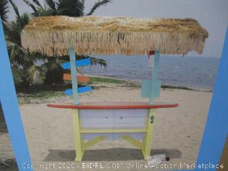 Margaritaville - Surfboard Tiki Bar (missing roof thatching, as pictured)