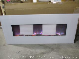 NorthWest - Electric Plat Panel Fireplace Heater (Powers On, dented)