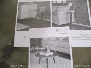 Manhattan Comfort - Carmine End Table Set
