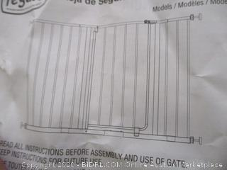 "Regalo- Metal Walk Through Safety Gate- White ( 29"" to 47"" W x  30"" H)"