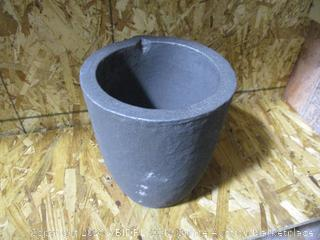 Graphite Foundry Smelting Crucible for Copper, Brass, Aluminum (8x9in)