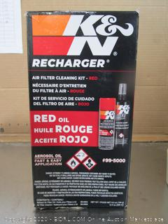 K & N Red Oil Air filter Cleaning Kit