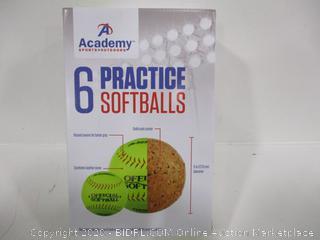 Practice Softballs 6 Pack