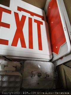 Exit Sign With Emergency Light