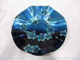 """Handmade And Hand Painted Forget Me Not 15"""" Round"""