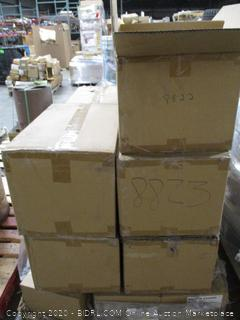 Pallet of Fluoride Trays and Toilet Paper Dispensers