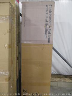 "Zinus 7"" Platform Bed Frame w Tufted Headboard"