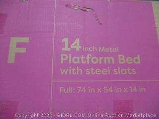 """14"""" Platform Bed w Steel Slats"""