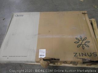 Zinus Cherie Leather Queen Size Platform Bed Frame