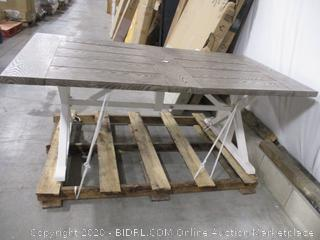 Metal Picnic Table With Hole for Umbrella