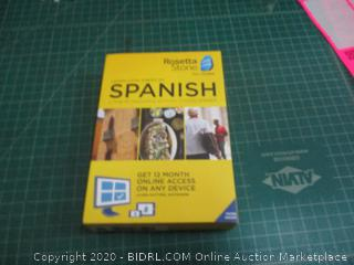 Rosetta Stone Spanish Factory Sealed