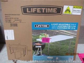 Lifetime 4 Ft. Adjustable Table