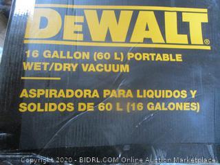 DeWalt 16 Gal Portable Wet/Dry Vacuum