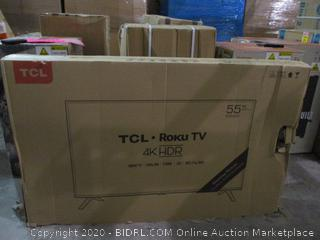 """TCL ROKU tv 4k HDR Smart TV  55"""" Powers On See Pictures"""