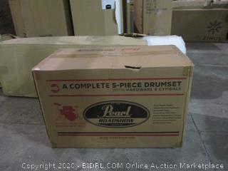 Pearl A complete 5 piece drumset factory sealed incomplete