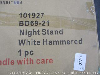 Night Stand White Hammered See Pictures