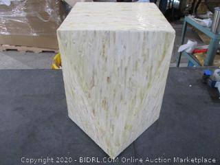 deco wood Inlay Accent table damaged
