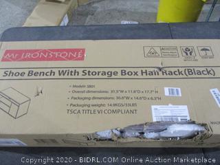 Shoe Bench with Storage Box Hall rack