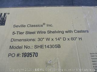 5-Tier Steel Wire Shelving with Casters
