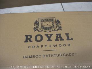 Royal Bamboo Bathtub Caddy