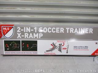 2 in 1 Soccer trainer X-ramp