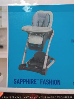 Graco Blossom 6 in 1 Convertible High Chair, Sapphire(Factory Sealed) COME PREVIEW!!!!! (online $145)