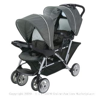 Graco DuoGlider Double Stroller | Lightweight Double Stroller with Tandem Seating, Glacier (online $156) factory sealed