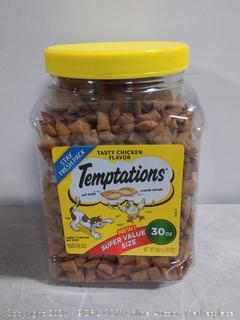 TEMPTATIONS Classic Cat Treats Tasty Chicken Flavor, 30 oz. Tub