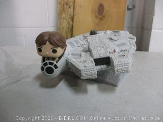 Han Solo/Millennium Falcon Toy Item (See Pictures)
