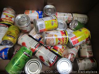 Entire Pallet of Food (cans of beans, soup, chili, sparkling water, nacho cheese, and more!)