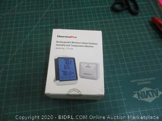 Therm Pro rechargeable wireless Indoor/Outdoor Humidity and Temperature Monitor